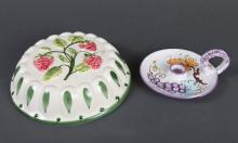 2 Italian Hand Painted Pottery Articles