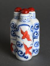 Chinese Porcelain Triple Snuff Bottle