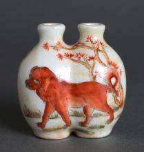 Chinese Republic Porcelain Dual Snuff Bottle