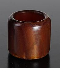 Chinese Carved Horn Archer's Ring