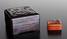Chinese Shoushan Seal in Hardwood Box