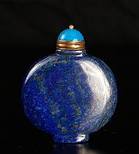 Chinese Carved Lapis Lazuli Snuff Bottle