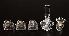 5 Antique Glass Perfume Bottles