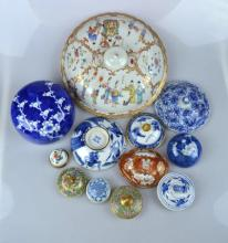 Collection of 11 good Chinese porcelain tops