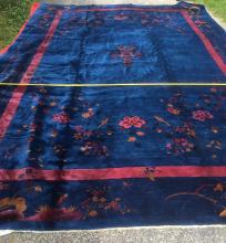 Chinese Carpet with Birds & Flower