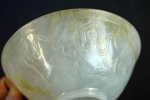 Fine 18th/19th C Chinese White Jade Carved Bowl