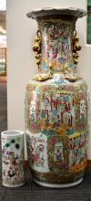 Large/Rare 19th C Chinese Rose Medallion Vase
