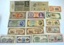 16 Pieces of Assorted Paper Money