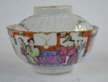 19th C Chinese Enameled Porcelain Tea Bowl & Cover