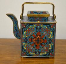 Chinese Cloisonne Covered Teapot