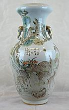 Fine and Rare Republic Chinese Porcelain Deers Vase