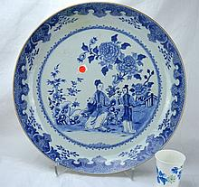 Chinese Porcelain Blue & White Charger, Kangxi