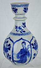 Chinese B & W Porcelain Small Vase, Kangxi