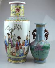 2 Good Enameled Chinese Porcelain Vases