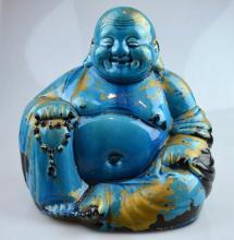 Chinese Turquoise Glazed Porcelain Buddhai