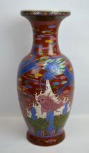 Chinese Enameled Ox Blood Glazed Porcelain