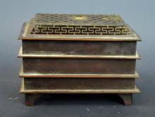 3 Layered Chinese Bronze Incense Burner & Holder
