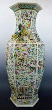 19th C Chinese Porcelain Large Hexagon Vase