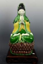Good Chinese Sancai Porcelain Guanyin