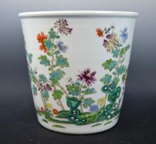 Good Chinese Enameled Porcelain Plant Holder