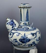 Ming Chinese B & W Porcelain Kendi