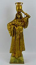 Ernest Wante; Gilt Bronze Figure of Arab Beauty