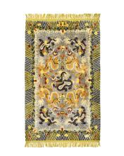 18TH/19TH C. QING DYNASTY IMPERIAL 9 DRAGONS WOVEN RUG