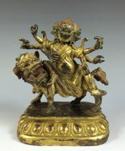 18th/19th SINO-TIBETAN TANTRIC BUDDHA ON MYTHICAL BEAST