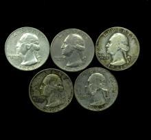 5 US (.25) GEORGE WASHINGTON QUARTERS
