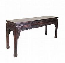 Chinese Carved Zitan Altar Table