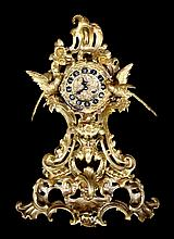 Gilt Bronze French Clock, Marti