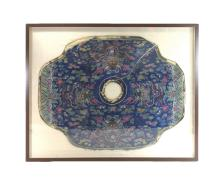 18TH/19TH C. FRAMED CHINESE EMBROIDERY SILK KESI