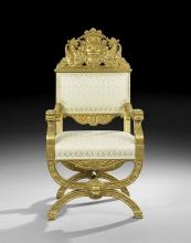 CONTINENTAL GILTWOOD ARMCHAIR