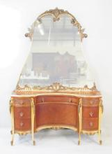 FRENCH STYLE LOUIS XV MIRRORED DRESSER