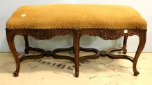 1850 Walnut French Regency Bench