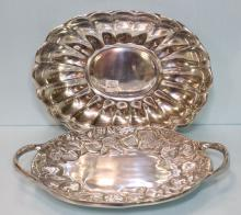 Two Pewter Serving Dishes