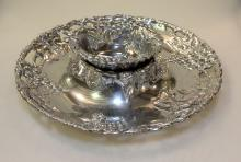 Arthur Court Pewter Chip & Dip