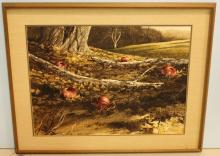 Watercolor of Apples by Emmitt Thames