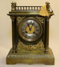 Highly Decorated Brass Mantel Clock
