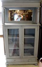 Light Blue Two Door Bookcase