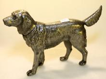 Large Pewter Dog