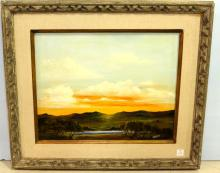 Oil Painting of Sunset Hills