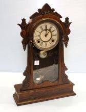 Victorian Walnut Kitchen Clock