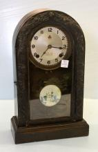 Early 1900s Carved Oriental Mantel Clock