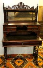 19th Century Rosewood Two Piece Desk/Eterge