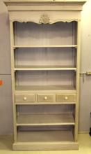 Grey Open Front Bookcase