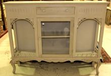 Gray French One Door Bookcase