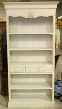 White Open Front Bookcase