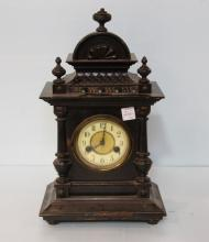 Turn of the Century Ebonized Mantel Clock