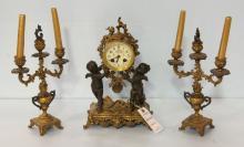 Three Piece Victorian Clock Set